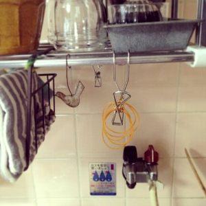 キッチン無印フック輪ゴム収納