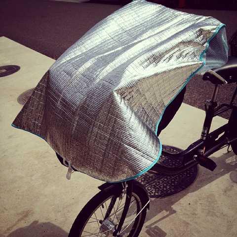 自転車子ども乗せシート