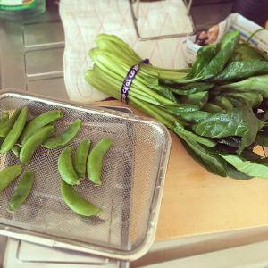 野菜をゆでておく
