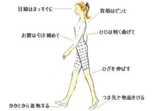 きれいな歩き方
