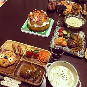 3歳誕生日料理