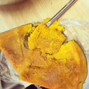 かぼちゃレンジ調理