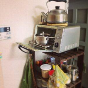 狭いキッチン調理スペース