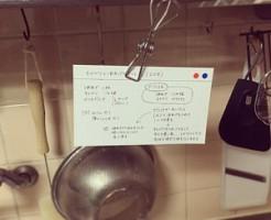 レシピカードクリップ留め