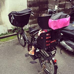 自転車後ろ乗せレインカバー