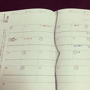 主婦日記月間(マンスリー)スケジュール