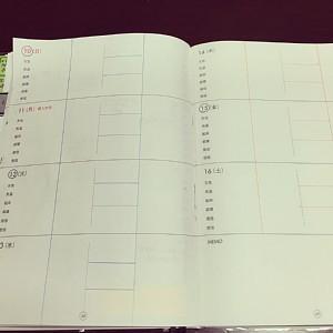 主婦日記(ウィークリー)線の引き方