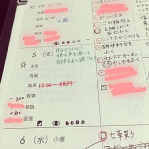 主婦日記ウィークリー書き方