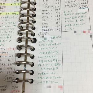 づん 家計簿 日記