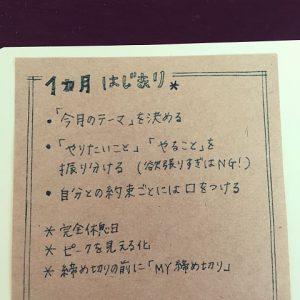 ジブン手帳 マンスリー 書き方
