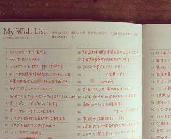 逆算手帳 やりたいことリスト 公開